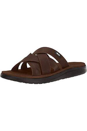 Action Sports (Teva DE) Men's Voya Slide Leather Sandal Flip Flops, (Carafe Cara)