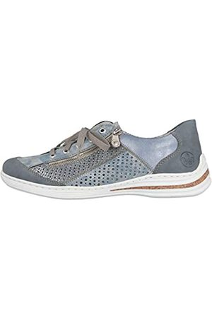 Rieker Women's Frühjahr/Sommer Low-Top Sneakers, (Adria/Heaven/Adria/Sky 12)