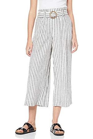 New Look Women's Mark Stripe Linen Trousers