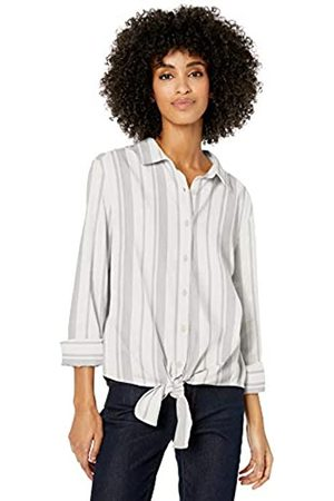 Goodthreads Solid Brushed Twill Tie-front Shirt Button