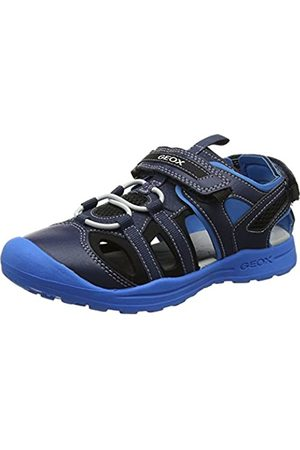 Geox Boys J Gleeful A Closed Toe Sandals, (Navy/Lt )