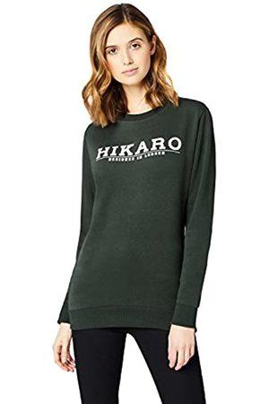 HIKARO Amazon Brand - Women's Logo Top, Multicolour (Gingham Black / Gingham Red), 10