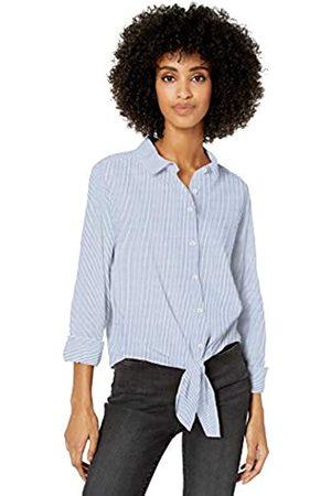 Goodthreads Lightweight Poplin Tie-front Shirt Button