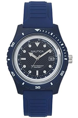 Nautica Mens Analogue Quartz Watch with Rubber Strap NAPIBZ005
