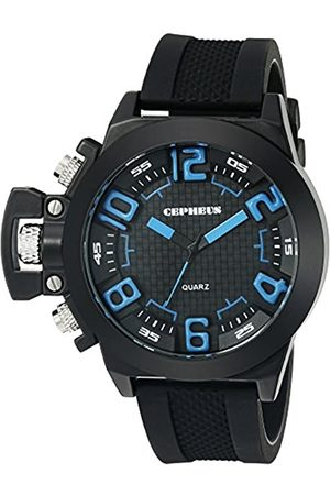 CEPHEUS Men's Quartz Watch with Dial Analogue Display and Silicone Strap CP901-622B