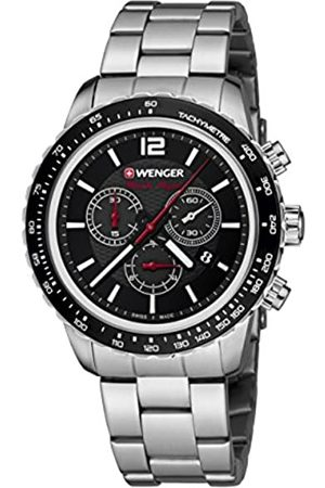 Wenger Unisex Chronograph Quartz Watch with Stainless Steel Strap 01.0853.107