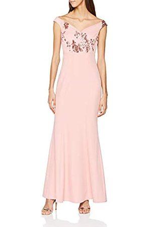 Little Mistress Women's Bardot Maxi Dress, (Rose)
