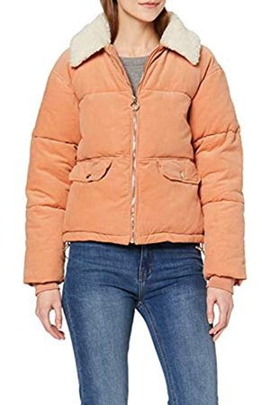 Miss Selfridge Women's PNK Borg Cord Puffer Quilted Jacket