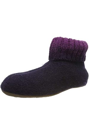 Haflinger Unisex Adults' Everest Iris Open Back Slippers, (Lavendel 90)