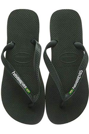Havaianas Brasil Logo, Unisex Adults' Flip Flop Flip Flops, ( Olive)