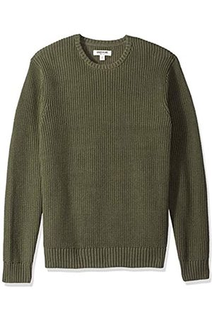 Goodthreads Mens Soft Cotton Rib Stitch Crewneck Sweater