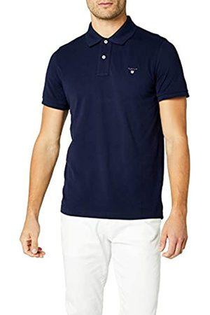 GANT Men's Solid Pique Ss Rugger Regular Fit Short Sleeve Polo Shirts