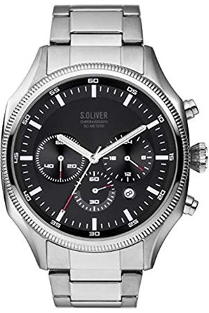 s.Oliver Mens Chronograph Quartz Watch with Stainless Steel Strap SO-3861-MC