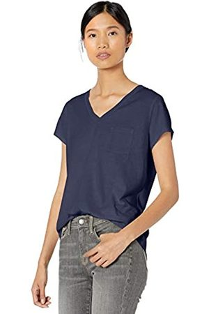 Goodthreads Washed Jersey Cotton Pocket V-neck T-shirt Indigo