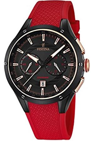 Festina Men's Quartz Watch with Dial Chronograph Display and Rubber Strap F16833/1