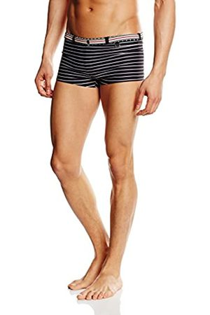 Hom Men's Jackpot Swim Shorts (Shorty de bain Lycra) Boy, (Rayé Noir/Blanc)