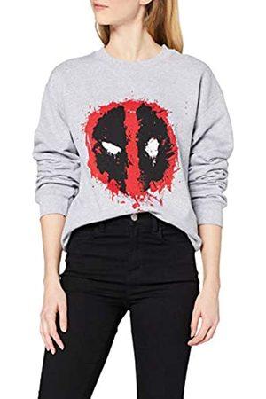 Marvel Women's Deadpool Splat Face Sweatshirt