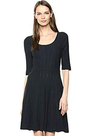 Lark & Ro Matisse Half Sleeve Flared Dress Dark Navy