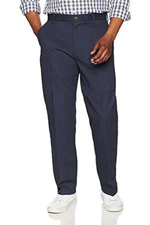 Amazon Classic-Fit Wrinkle-Resistant Flat-Front Chino Pant (Navy)