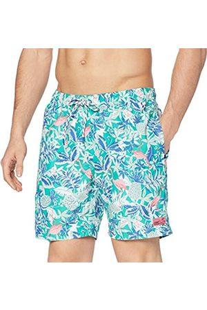 Izod Men's Flamingo Print Swim Trunk Shorts