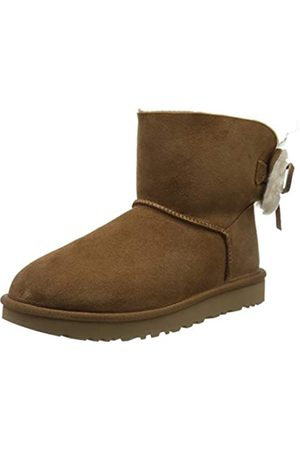 UGG Women's W Classic Double Bow Mini Ankle Boots, (Chestnut Che)