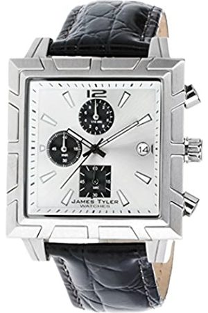 James Tyler JT710–3 Men's Watch Quartz Chronograph Square Brushed Stainless Steel