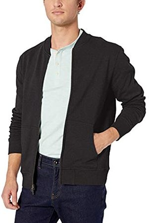 Goodthreads Men's Fleece Bomber Sweatshirt, (Charcoal Heather)