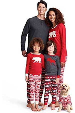 Hatley Little Blue House by TSUWIMO223 Men's Pajama Top, Red (Women's Jersey Pyjama Leggings - Bear Fair Isle 600)
