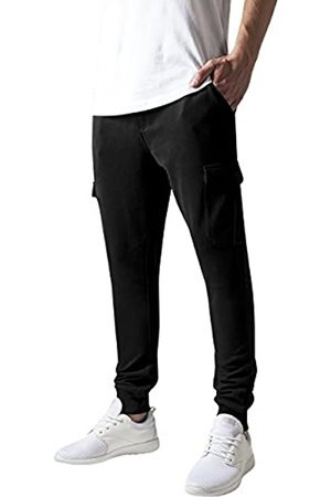 Urban classics Men's Fitted Cargo Sweatpants Trouser