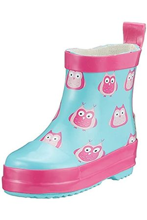 Playshoes Girl's Wellies Rain Owls Wellington Rubber Boots
