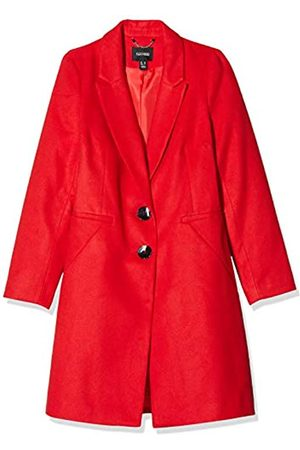 Simply Be Women's Ladies Single Breasted Coat with Horn Button Detail
