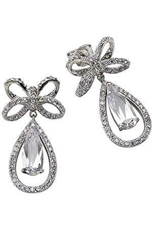 CELESTA ZEEme Silver Women's Earrings 925 Sterling Silver Rhodium-Plated Pear Cut 358220363 Zirconia