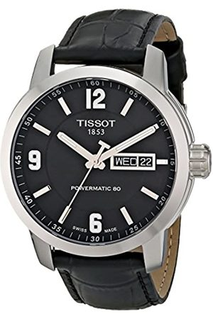 Tissot Men's Analog Automatic Watch with Leather Strap T0554301605700