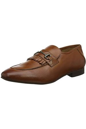 H by Hudson Men's Chichester Leather Loafers, (Tan 24)