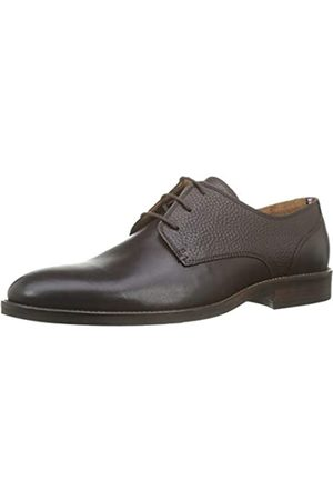 Tommy Hilfiger Men's Essential Leather Mix Shoe Oxfords, Black (Coffee 211), 45 EU