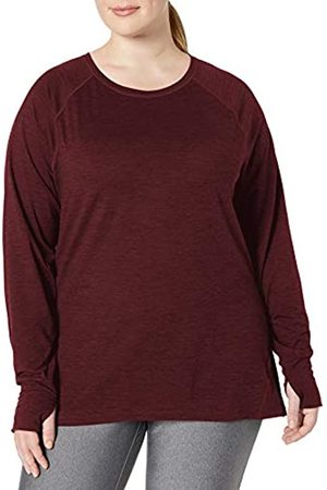 Amazon Plus Size Brushed Tech Stretch Long-sleeve Crew T-Shirt