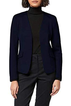MERAKI Women's Collarless Stretch Jersey Comfort Blazer)