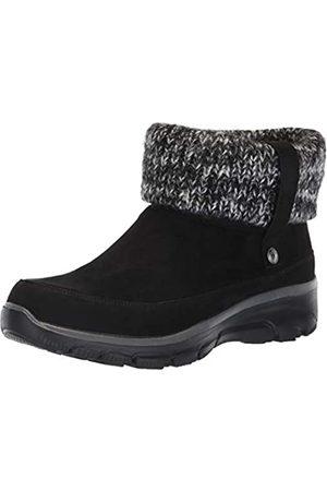 Skechers Women's Easy Going-Heighten Ankle Boots, ( Microfiber/Knit Blk)