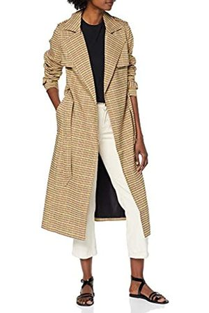 Warehouse Women's Clean Check Trench Coat
