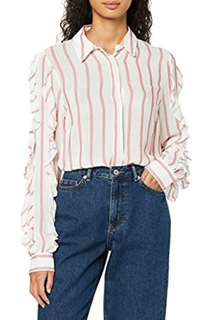 find. Women's Blouse in Stripes with Ruffle Sleeve