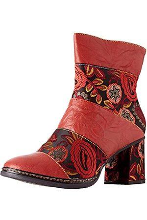 LAURA VITA Women's Elcianeo 02 Ankle Boots, (Rouge Rouge)