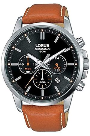 Lorus Mens Analogue Quartz Watch with Leather Strap 8431242954288