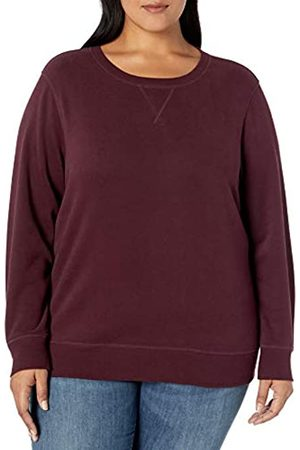 Amazon Essentials Plus Size French Terry Fleece Crewneck Sweatshirt Hooded