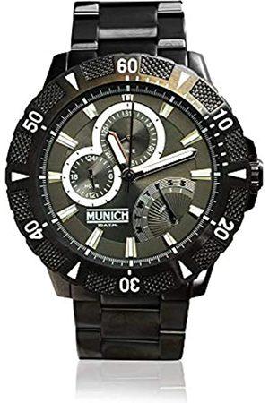 Munich Unisex Adult Analogue Quartz Watch with Stainless Steel Strap MU+104.1A