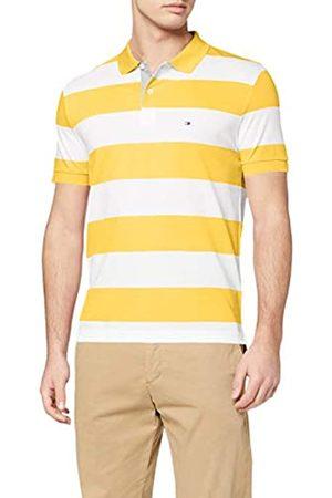 Tommy Hilfiger Men's Block Stripe Regular Polo Shirt, (Sunny/ 0FP)