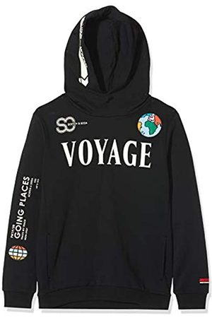 Scotch & Soda Boy's Hoody with Placed Artworks Sweatshirt
