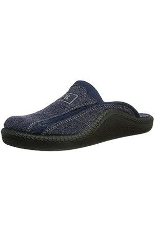 Romika Men's Mokasso 246 Open Back Slippers, (Marine 503)