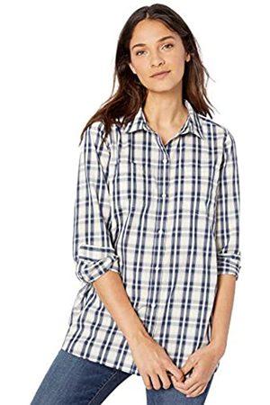 Goodthreads Lightweight Twill Two-pocket Relaxed Shirt Button, /Navy Plaid