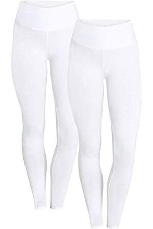 Berydale Hochbund Leggings, Weiß), 12 (size: Medium)