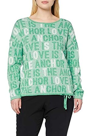 CECIL Women's Allover Wording Pullover Sweater